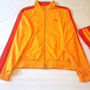 🆕️ PUMA Retro red orange track suit jacket